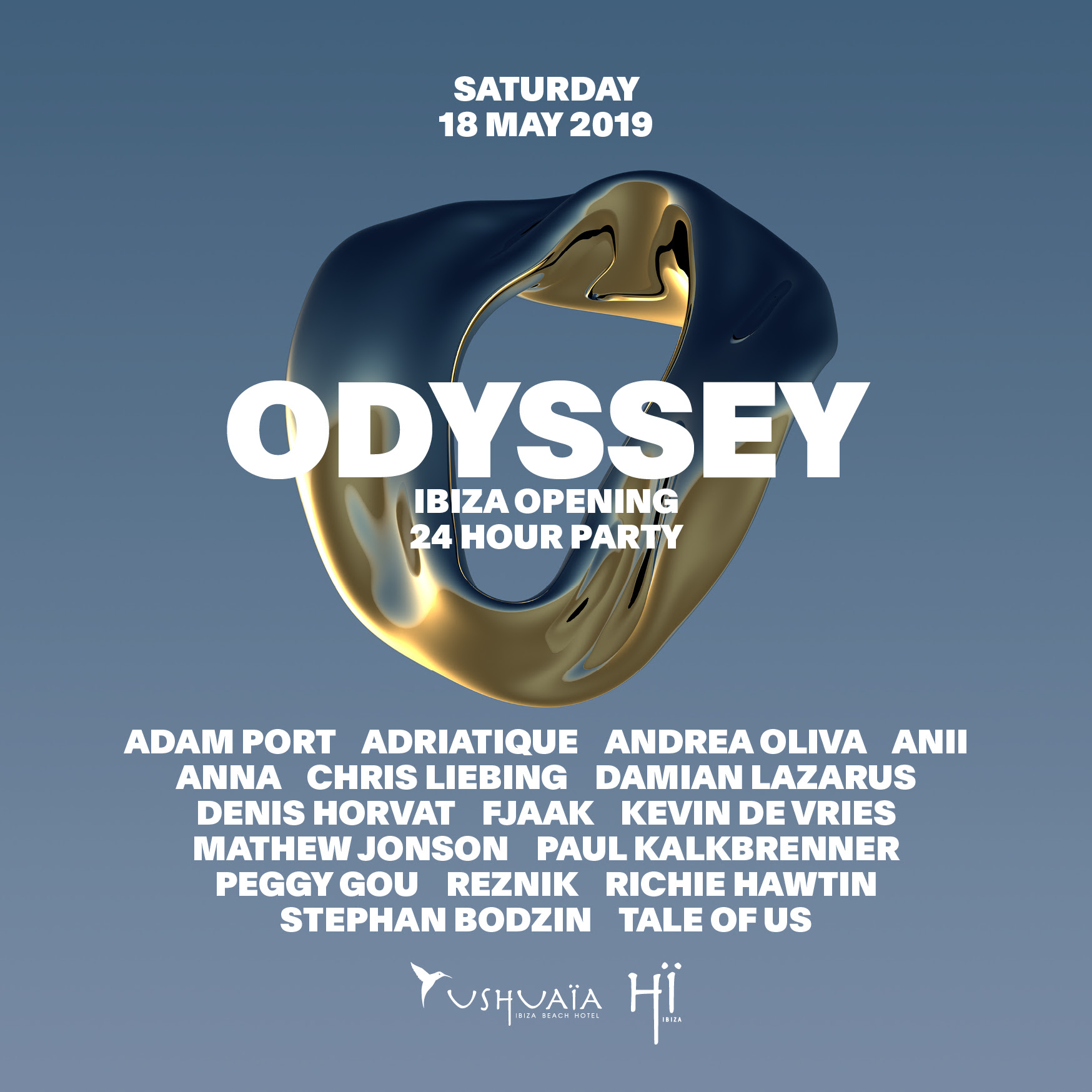 THE NIGHT LEAGUE REVEAL LINE-UP FOR 'ODYSSEY' – THE 24-HOUR OPENING PARTY EXTRAVAGANZA AT USHUAÏA AND HÏ IBIZA