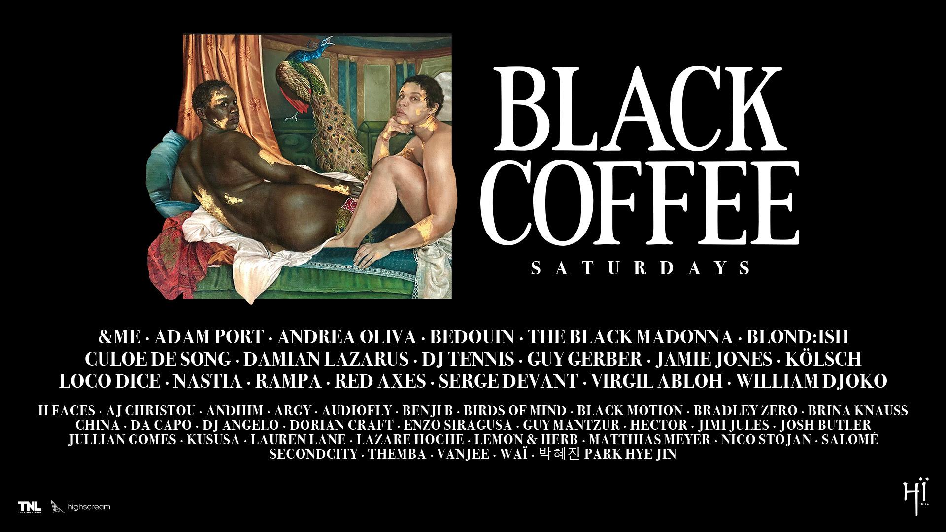 HÏ IBIZA ANNOUNCES FULL SEASON LINE-UP FOR BLACK COFFEE BLACK COFFEE