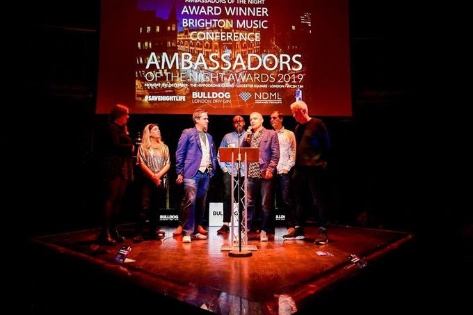 BRIGHTON MUSIC CONFERENCE AWARDED FOR COMMITMENT TO ELECTRONIC DANCE MUSIC AT THE AMBASSADORS OF THE NIGHT AWARDS