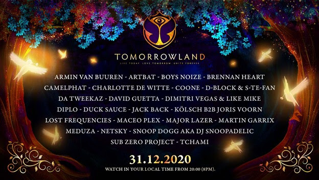 Tomorrowland announce 31.12.2020  –  a magical New Year's Eve celebration